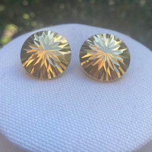 VTG 14K Signed Gold Dome EARRINGS